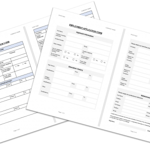 Employment Application Form - Two Styles
